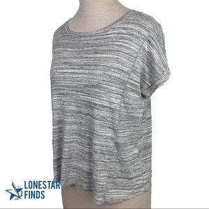 Athleta Gray Workout Tee Top Sz M J15